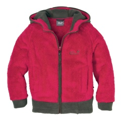 Jack Wolfskin Kids Hooded Highloft Jacket indian red - Gr&#246;&#223;e 128 Kinder 16528
