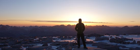 Sonnenuntergang am Mount Whitney