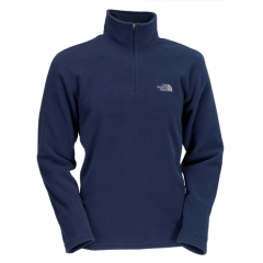 The North Face 100 Glacier 1/4 Zip Farbe / color: deep water blue 472 (Zoom)