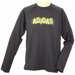 Adidas Hiking Dri-Release Longsleeve Tee Farbe / color: dark brown (zoom)