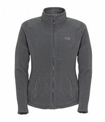 The North Face Womens 100 Glacier Full Zip Farbe / color: graphite grey heather A55 (Zoom)