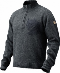 Fjällräven Loge Sweater Farbe / color: dark navy/navy 555 (zoom)
