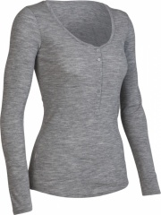 Icebreaker Superfine 200 Long Sleeve Cruise Henley Women Farbe / color: metro F48 (zoom)