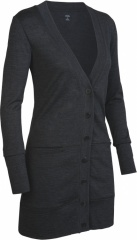 Icebreaker Superfine 200 Cruise Cardigan Women Farbe / color: jet 184 (zoom)