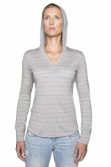 Icebreaker Superfine 200 Bliss Hood Women Farbe / color: blizzard/stripe D17 (Zoom)