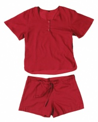 Cocoon Adventure Nightwear 100% Ägyptische Baumwolle Women (Shirt und Short) Farbe / color: raspberry 72a (Zoom)