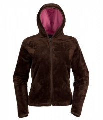 The North Face Mossbud Full Zip Hoodie Womens Farbe / color: bacio brown/aurora pink T39 (zoom)