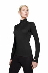 Icebreaker Bodyfit 200 Chakra Zip Women Farbe / color: black 001 (Zoom)