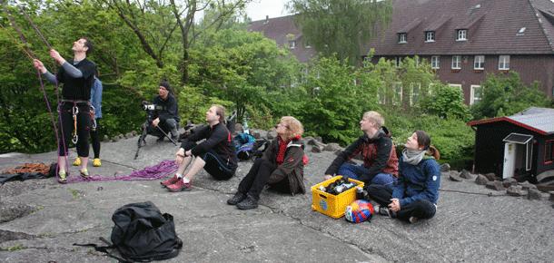 Kletterschulung bei Unterwegs, die Praxis