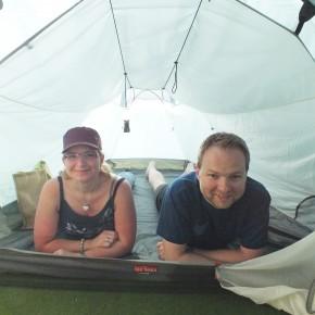 Ance braucht ein neues Zelt? Dori hilft.