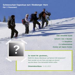 Schneeschuh-Tagestour gewinnen