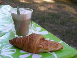 Das französische Frühstück ist fertig!