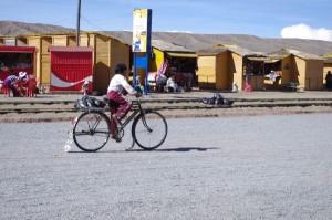 Fahrrad fahren auf Bolivianisch