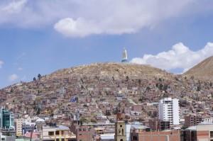 die Mariastatue von Oruro
