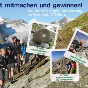 Alpenüberquerung im Wert von 775 Euro gewinnen