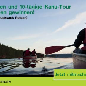 Sichert euch noch heute die Chance auf 2 Plätze für eine 10-tägige Kanu-Tour