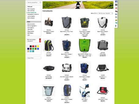 Fahrradtaschen bei Unterwegs