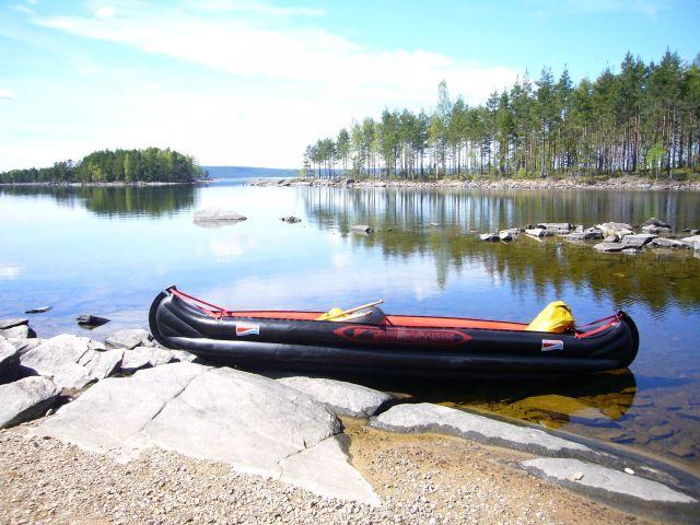 Schweden-Luftboot-Unterwegs