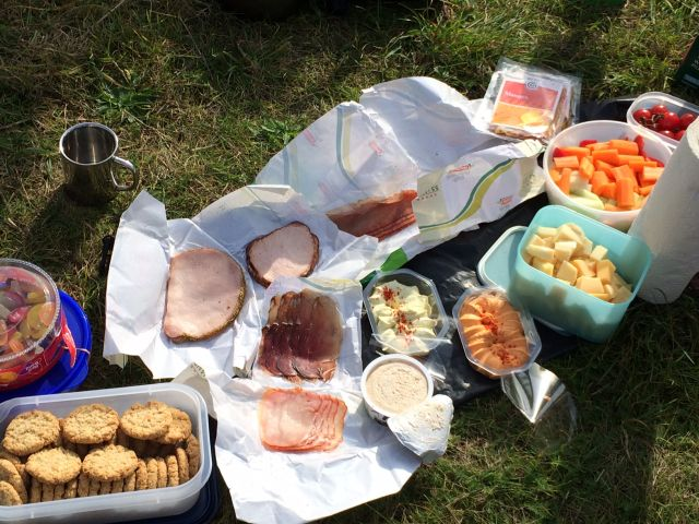 Picknick-Unterwegs-Paddeltour-Hunte