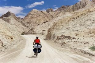Mit dem Fahrrad auf extremer Tour