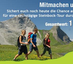 Gewinnt gleich zwei Plätze für die heißbegehrte Steinbocktour durch die Allgäuer Alpen!