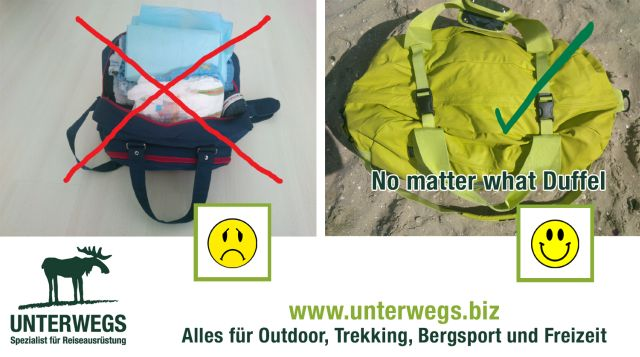 No-matter-what-Duffel-bei-Unterwegs