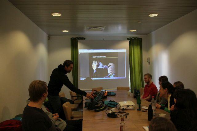 Klettergurt-Schulung-Unterwegs