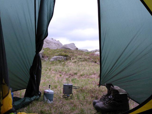 Tentporn-Zeltausblick-Norwegen