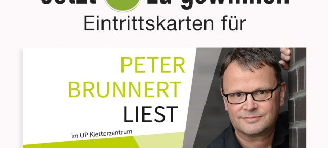 Peter Brunnert liest im UP - Jetzt Freikarten gewinnen!