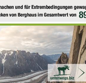 Extrem gut! Jetzt mitmachen und eine von vier Extrem Outdoorjacken von Berghaus gewinnen!