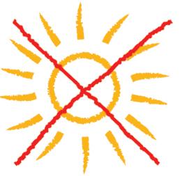 Keine direkte Sonneneinstrahlung