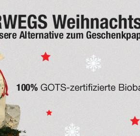 Unterwegs Weihnachtsbeutel - Unsere Alternative zu Geschenkpapier