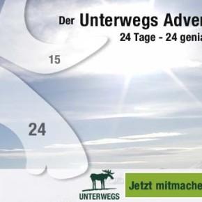 24 Türchen, 24 tolle Outdoor-Gewinne - Unser UNTERWEGS Adventskalender 2016