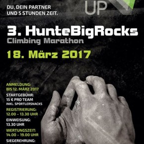 HunteBigRocks Klettermarathon 2017 im UP Kletterzentrum