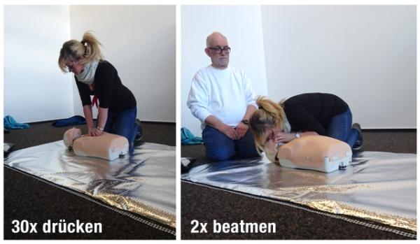 Erste-Hilfe-Herzdruckmassage