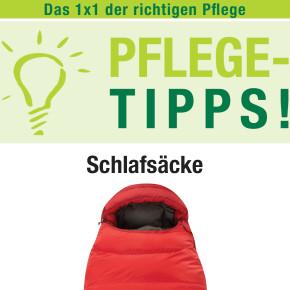Unterwegs Pflegetipps für Schlafsäcke