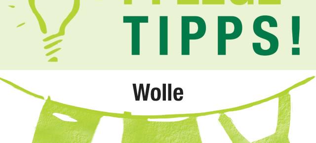 Unterwegs Pflegetipps für Wolle