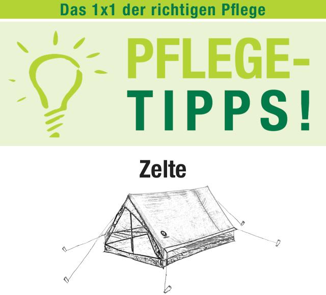 Pflegetipps-Zelte