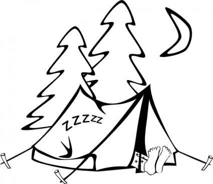 sleeping-in-a-tent-clip-art-43880