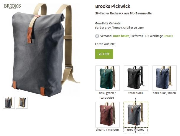Brooks bei Unterwegs