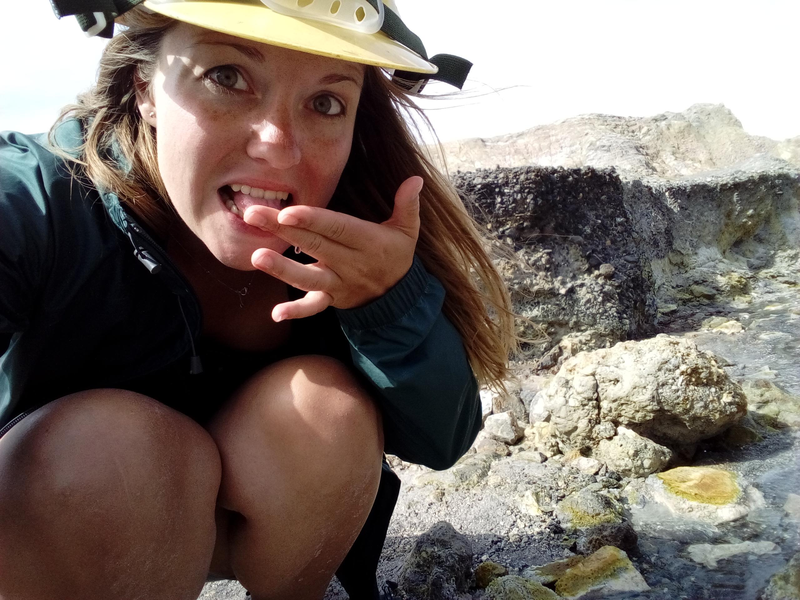 Aktiver Vulkan auf Neuseeland
