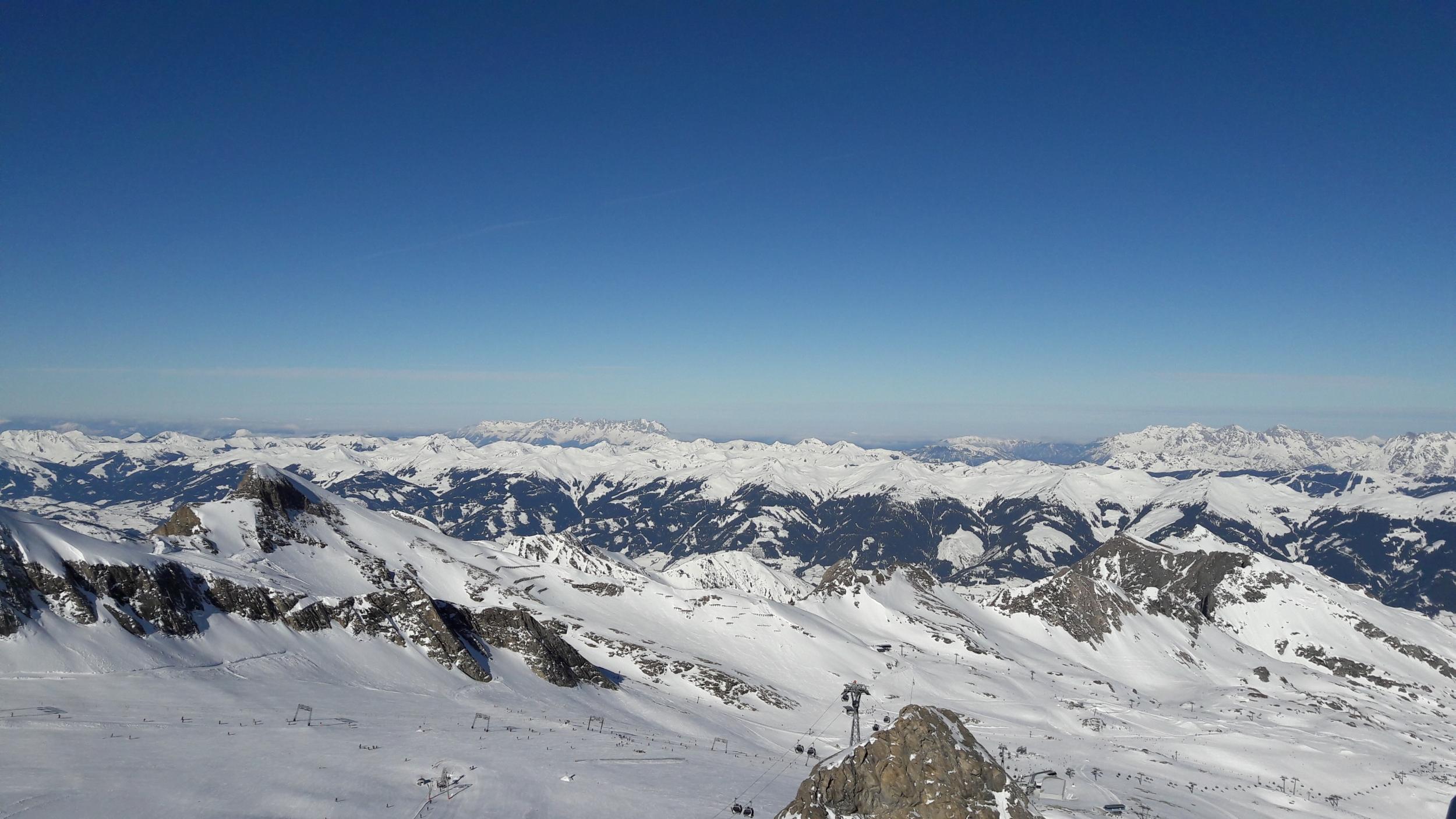 Ausblick von der Bergstation des Kitzsteinhorns