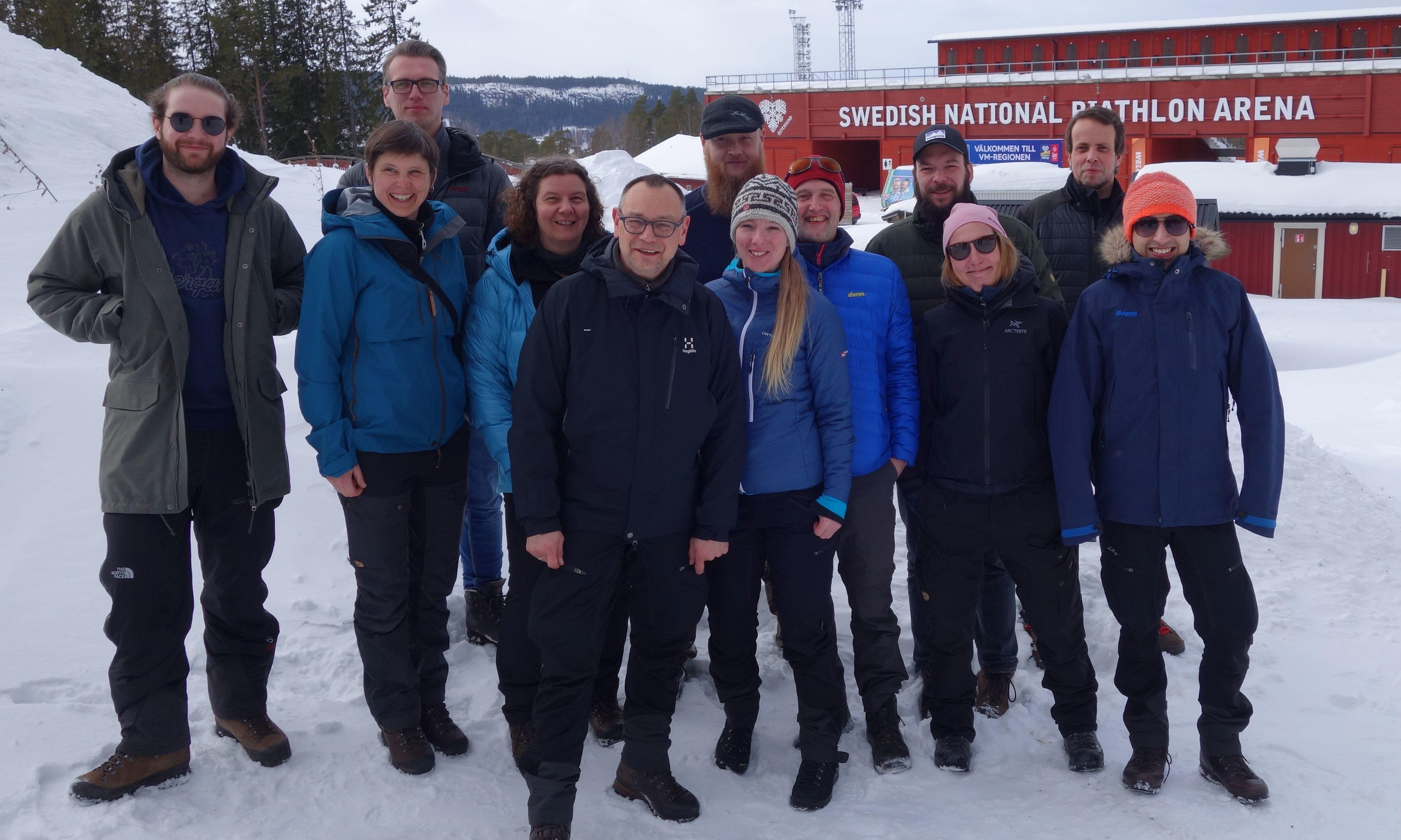 Unterwegs Gruppenbild in Schweden