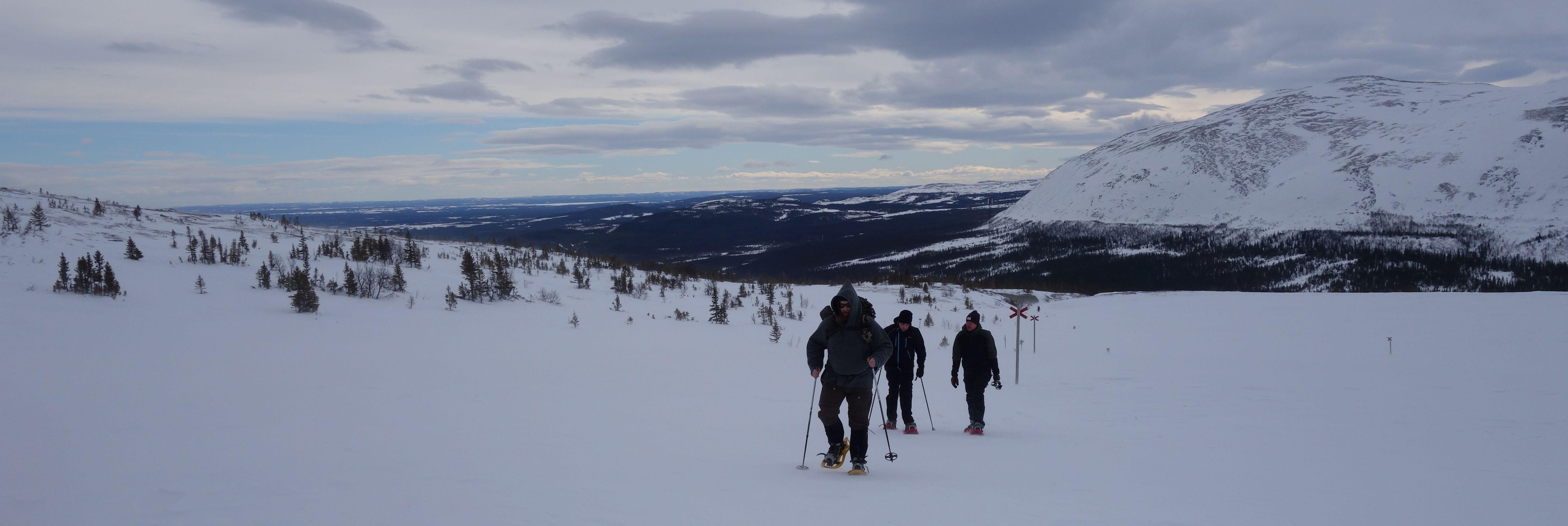 Schneeschuhwanderung in Schweden