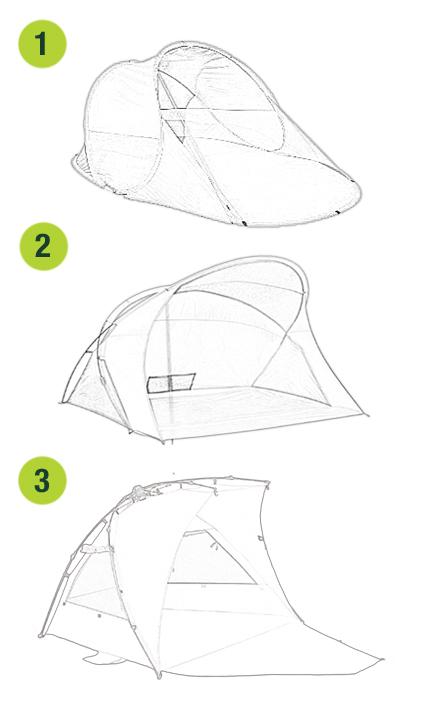 Aufbauvarianten von Strandmuscheln
