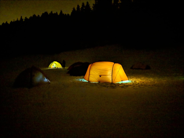 Unterwegs bei Exped Nachtlager 1