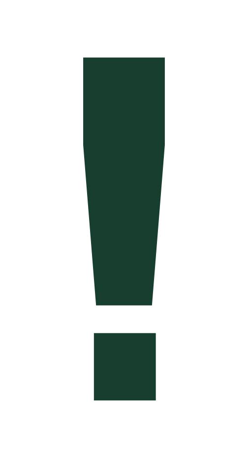 Ausrufezeichen grün