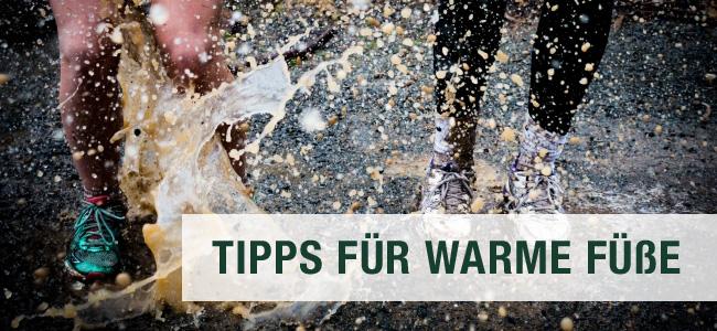 Tipps für warme Füße