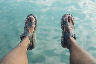 Sandalen für das Wasser