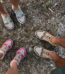 Drei-paar-Schuhe